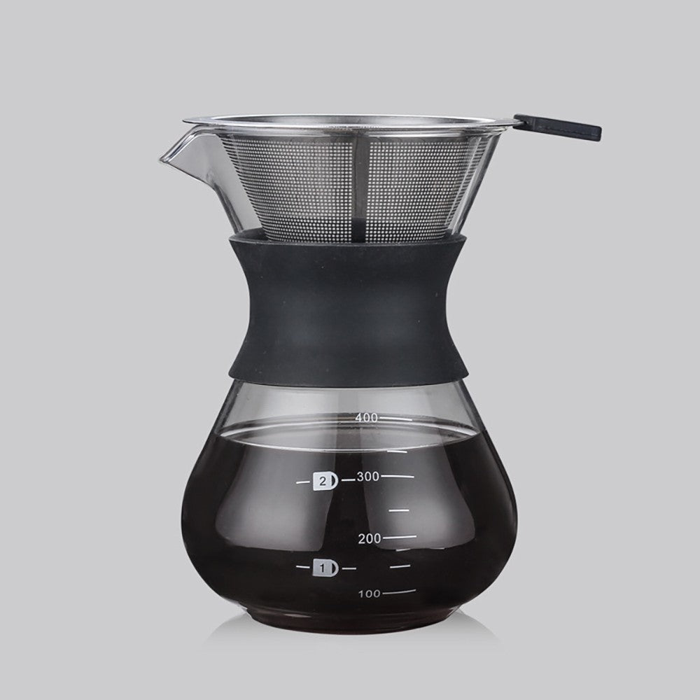 Glass Hand Punching Coffee Pot Temperature Resistance Glass Anti-scalding Share Glass Coffee Pot