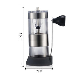 HIKUUI Mini Acrylic Adjustable Coffee Grinder Ceramic Grinding Core Mill Grind Beans With Base and