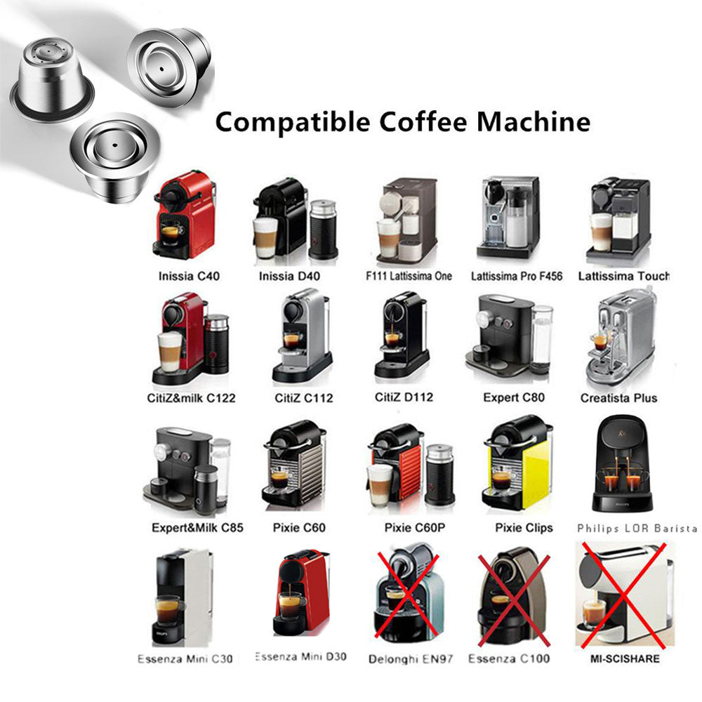 New Version Recargables Coffee Filter Espresso Capsulas Stainless Steel Nespresso Refillable Capsule Reusable