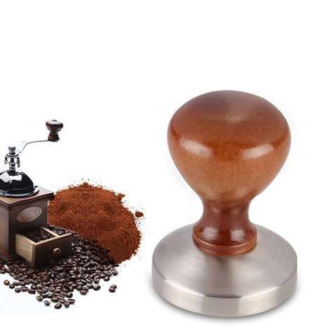 Hot 4pcs Coffee Accessories 58mm Stainless steel Coffee Tamper with 12oz Frothing Pither and