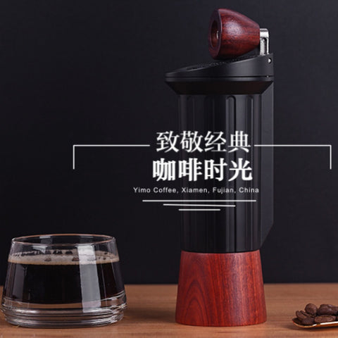 Improved version portable coffee mill Manual coffee grinder Stainless steel burr Hidden handle