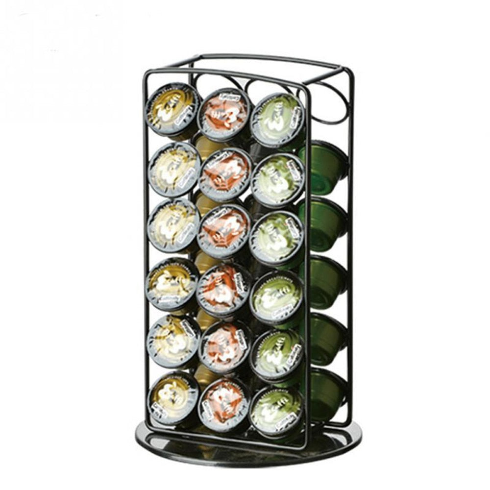 Iron Coffeeware Nespresso Coffee Capsules Pot Holder Stand Capsule Storage Rack Shelf Organizer