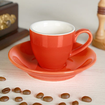 Jia-gui luo 1 Can Promotion!  70ML / 80ml, high-grade ceramic coffee cup   set simple European