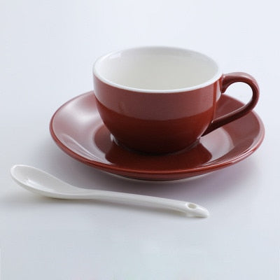 Jia-gui luo 150ml high-grade ceramic coffee cups Coffee cup set Simple European style Cappuccino
