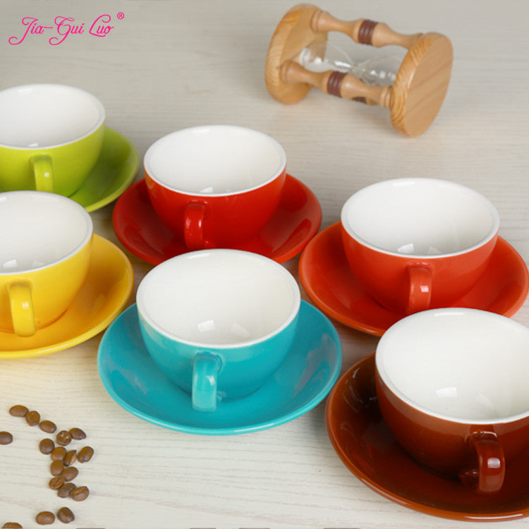 Jia-gui luo 220 ml high-grade ceramic coffee cups Coffee cup set Simple European style Cappuccino