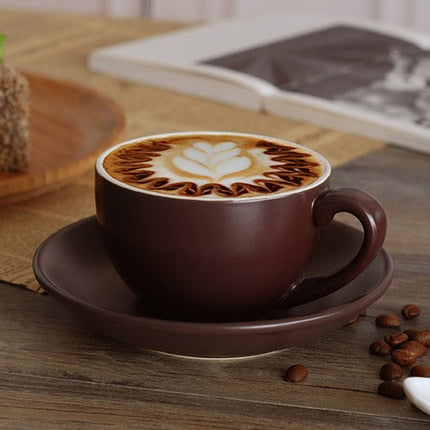 Jia-gui luo 220ml high-grade ceramic coffee cups Coffee cup set Simple European style Cappuccino