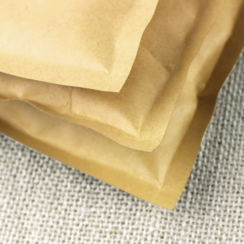 Flat Bottom Kraft Paper Zip Lock Bag Small Gift Bags Paper Fidget Hand Spinners Packaging Bag