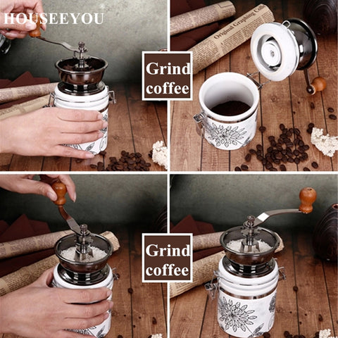Manual Coffee Grinder Ceramic Core Coffee Hand Mill Coffeeware Coffee Beans Pepper Spice Grinder