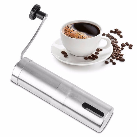 Manual Coffee Grinder Coffee Maker ceramics Core 304 Stainless Steel Hand Burr Mill Grinder Ceramic Corn