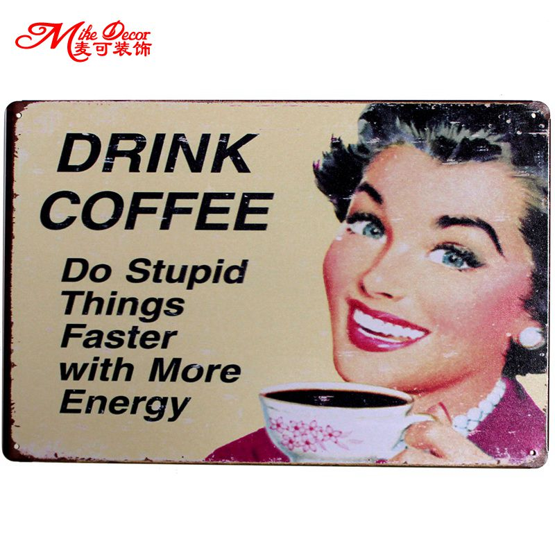 [ Mike86 ] HAVE A COFFEE Metal Plaque Poster Vintage Bar Craft Decor Wall art Signs 20*30 CM Mix Items B-246
