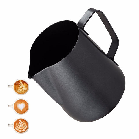 Milk Frothing Frother Pitcher - Non Stick Coating Latte Art Espresso Cappuccino -Food-grade 18/8