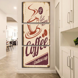 Modular Decoration Posters Picture On Canvas 3 Panel Coffee Cup Wall Art Home Framework Living Room HD Printed Modern Painting