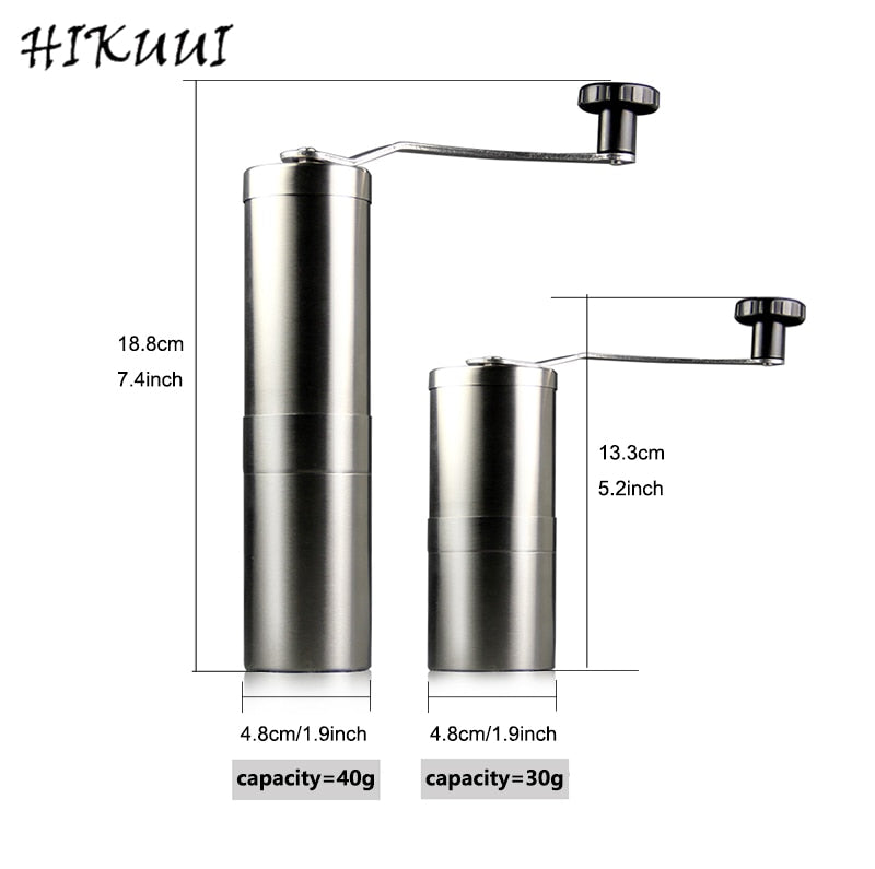 Multi-purpose Stainless Steel 30g/40g Manual Coffee Pepper Grinder Detachable Coffee Machine