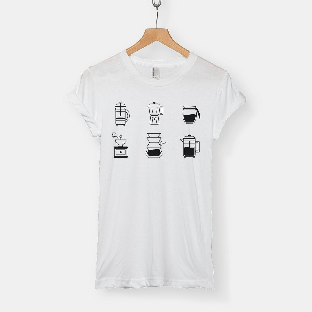 New Arrival Funny Coffee T-Shirt Coffee Lovers Shirt Barista Tee Shirt Woman Casual Tee shirt