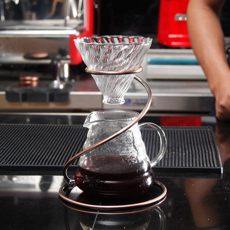 New Spiral Coffee Dripper Paperless, Reusable Pour Over Coffee Filter Stand,Permanent Coffee Dripper