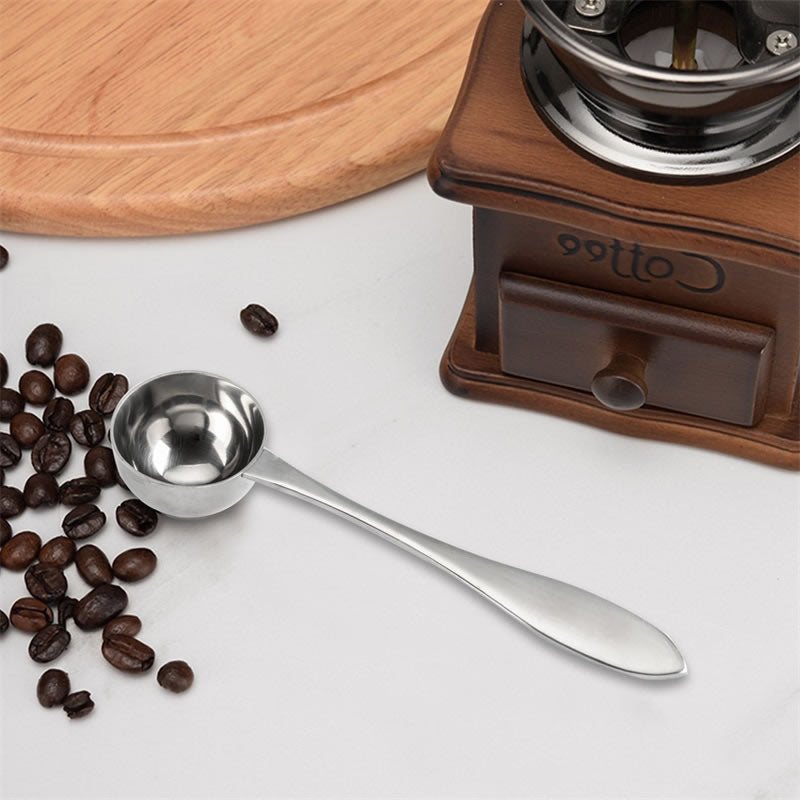 OBR Stainless Steel Long Handle Coffee Spoon Coffee Beans/Powder Spoon Ice Cream Scoop Coffee