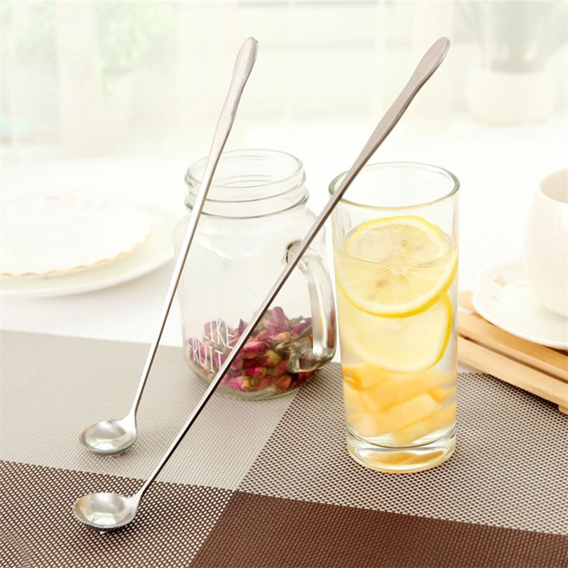 OBR Stainless Steel Long Handle Spoon Coffee Tea Stirring Mixing Spoon Ice Cream Dessert Scoop