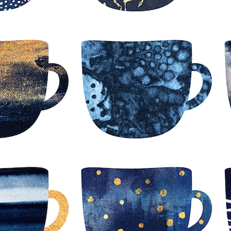 Pretty Blue Coffee Cups Posters And Prints Wall Art Canvas Painting Wall Pictures For Living Room Nordic Decoration