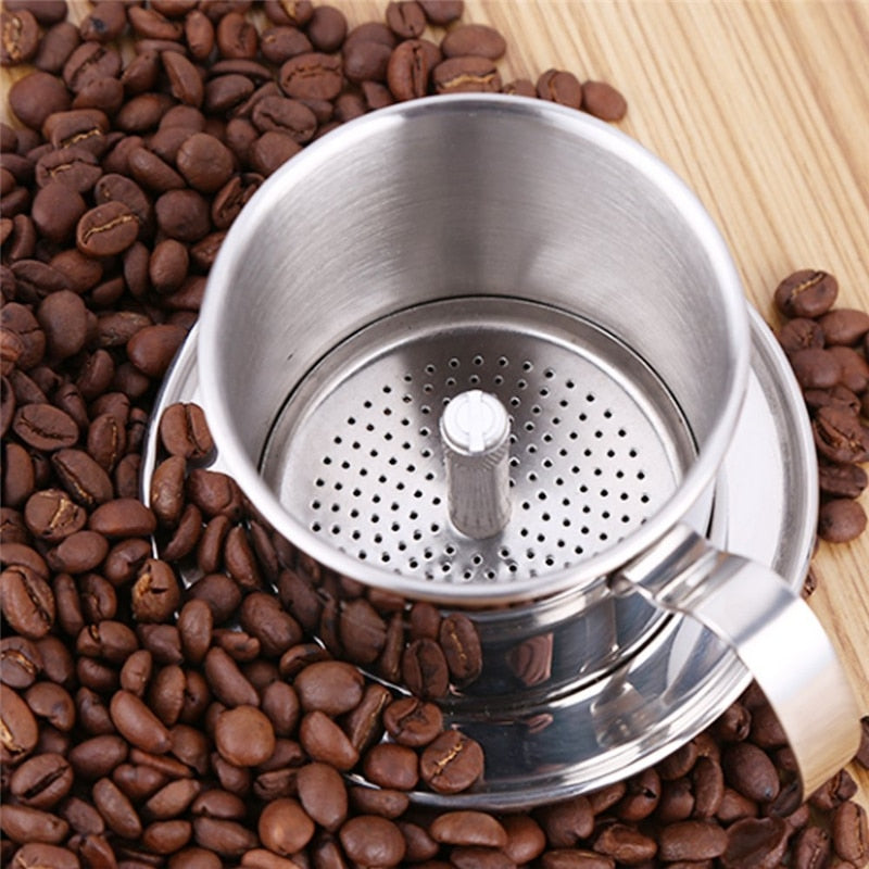 ROKENE Coffee Filter Press, Stainless Steel Vietnamese Coffee Filter Set Best Coffee Dripper for