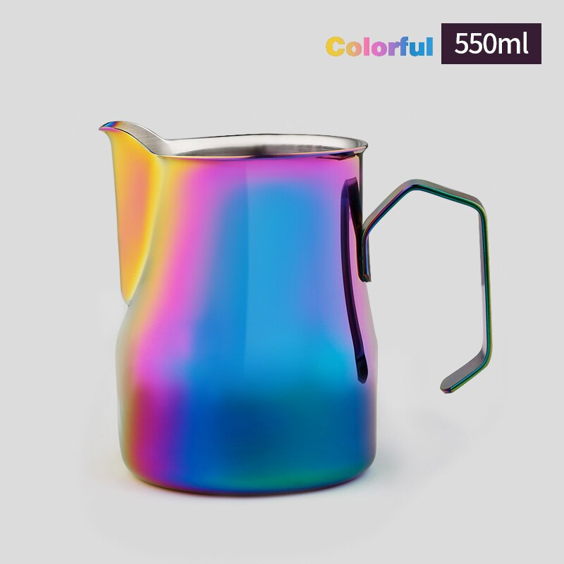 ROKENE Detachable Handle Milk Frothing Jug Stainless Steel Pitcher Espresso Coffee Pitcher Barista