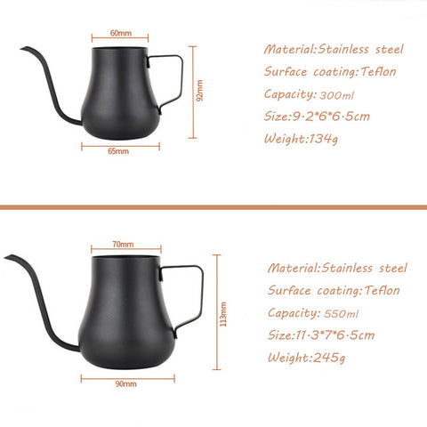 ROKENE Gooseneck Spout Drip Kettle Teflon Coffee Kettle Coating for Drip Coffee and Stainless