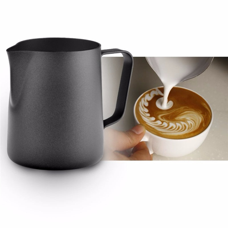 ROKENE Non-Stick Stainless Steel Pitcher Milk frothing jug Espresso Coffee Pitcher Barista Craft