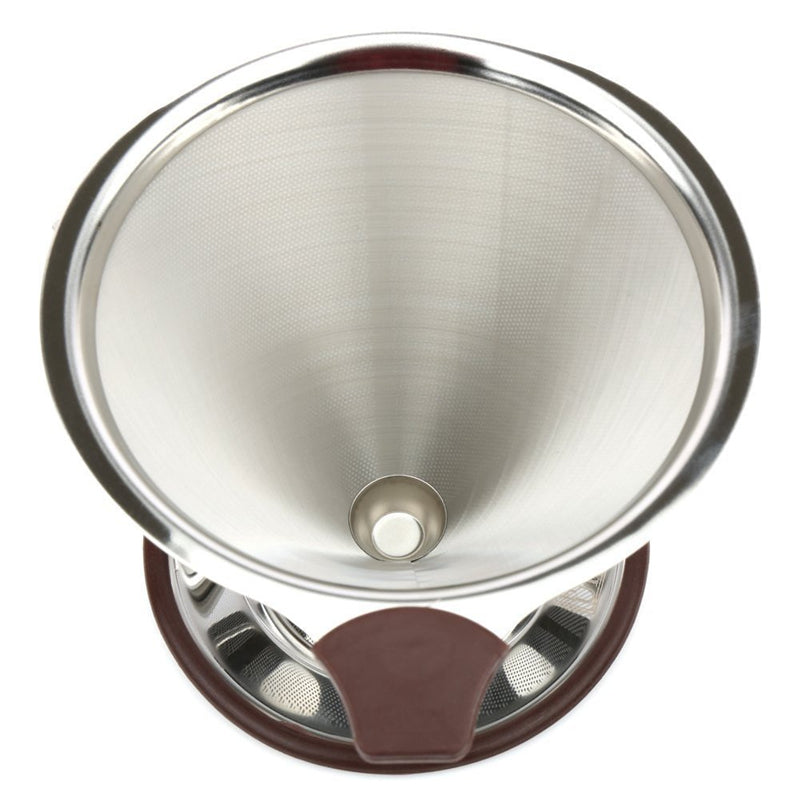ROKENE Pour Over Coffee Filter Stainless Steel Cone Coffee Dripper Paperless Permanent Pour Over