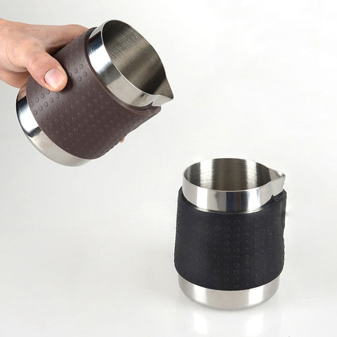 ROKENE Stainless Steel Coffee Pitcher Coffee Jug Profession Latte Art Milk Frothing Jug Food Grade
