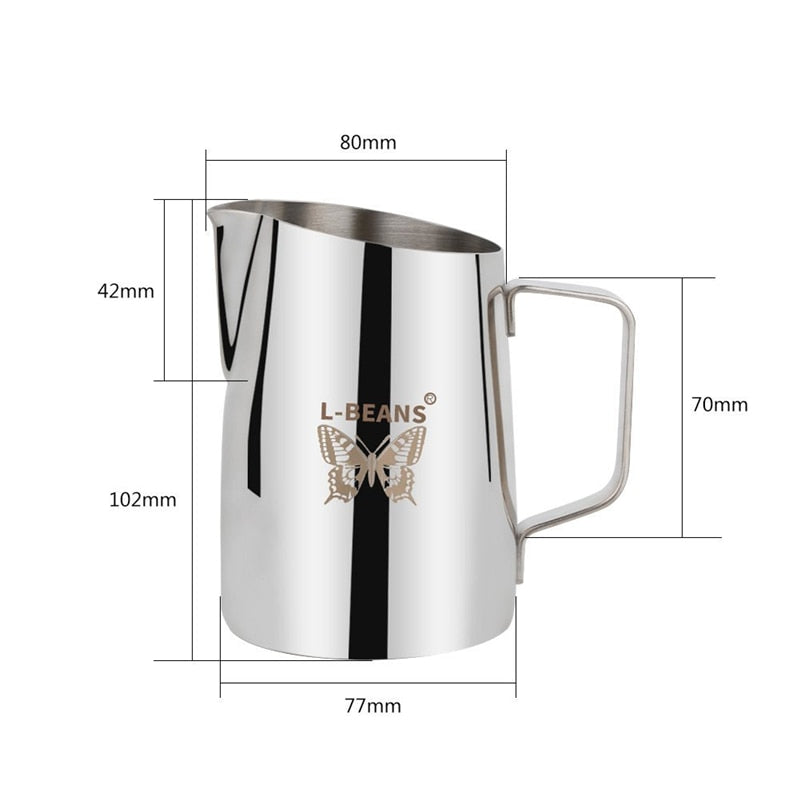 ROKENE Stainless Steel Non-Stick Coating Coffee Pitcher Milk Frothing Mugs Espresso Coffee Pitcher