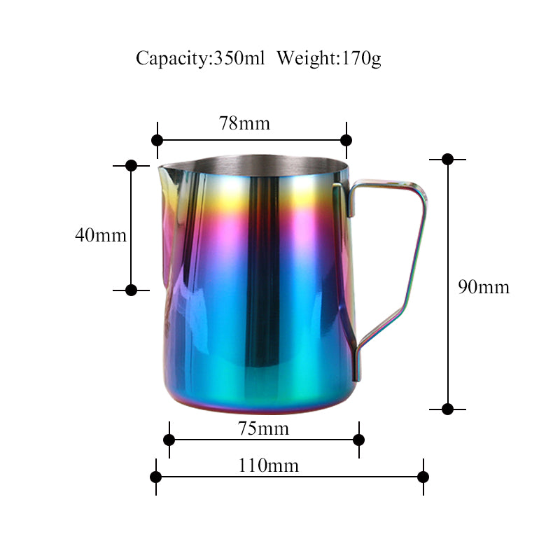 ROKENE Stainless Steel Pitcher Colorful Milk frothing jug Espresso Coffee Pitcher Barista Craft Milk