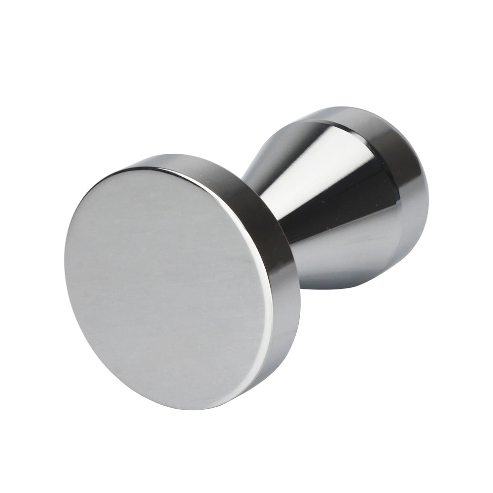 Recaps 51mm  Solid Iron with Chrome Plated Base Coffee Tamper for Espresso Coffee Machines Silver