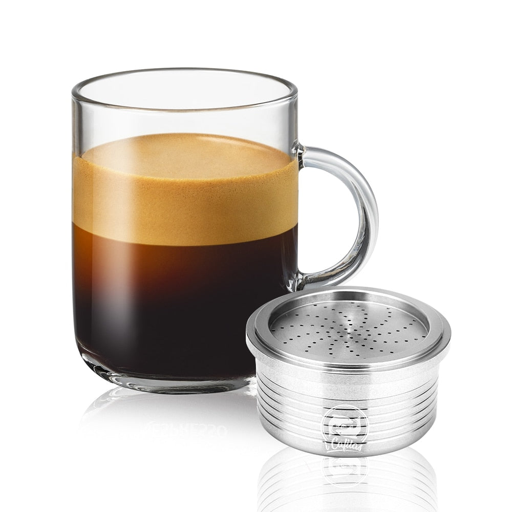 Refillable Lavazza Crema Coffee Capsulas Stainless Steel Reusable Coffee Filter Capsule Cup