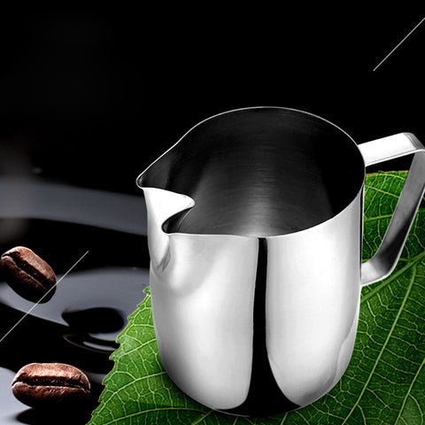 Rokene Stainless Steel Coffee Milk Frothing Pitcher with Double Spouts Coffee Pitcher Barista