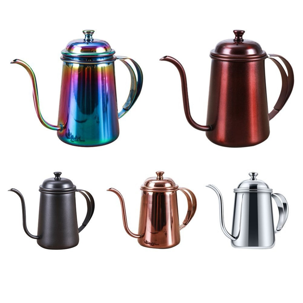 Rokene Stainless Steel Pour Over Coffee Kettle Gooseneck Kettle Hand Drip Tea Pot with Long