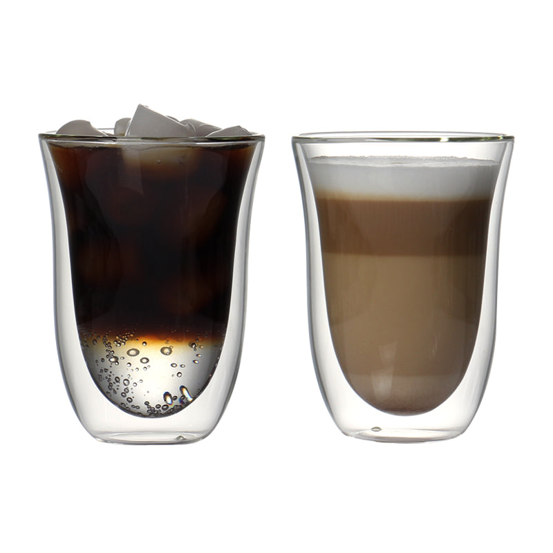 Set of 2 270ml double wall coffee cup sets for coffee, juice,drink, latte,espresso high quality