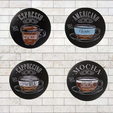 "Shabby chic ""Mocha  Cappuccino Espresso American Coffee"" Tin signs Art Poster Restaurant coffee Cafe Pub Wall Home Decor"