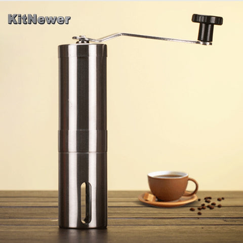 Silver Coffee Grinder Mini Stainless Steel Hand Manual Handmade Coffee Bean Grinders Mill Kitchen