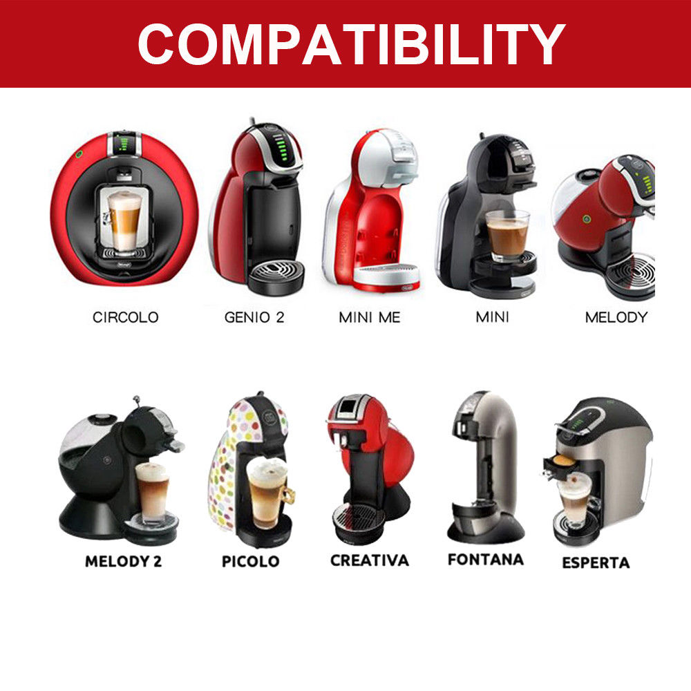 Stainless Metal Reusable Dolce Gusto Coffee Capsule for Nescafe with Filter