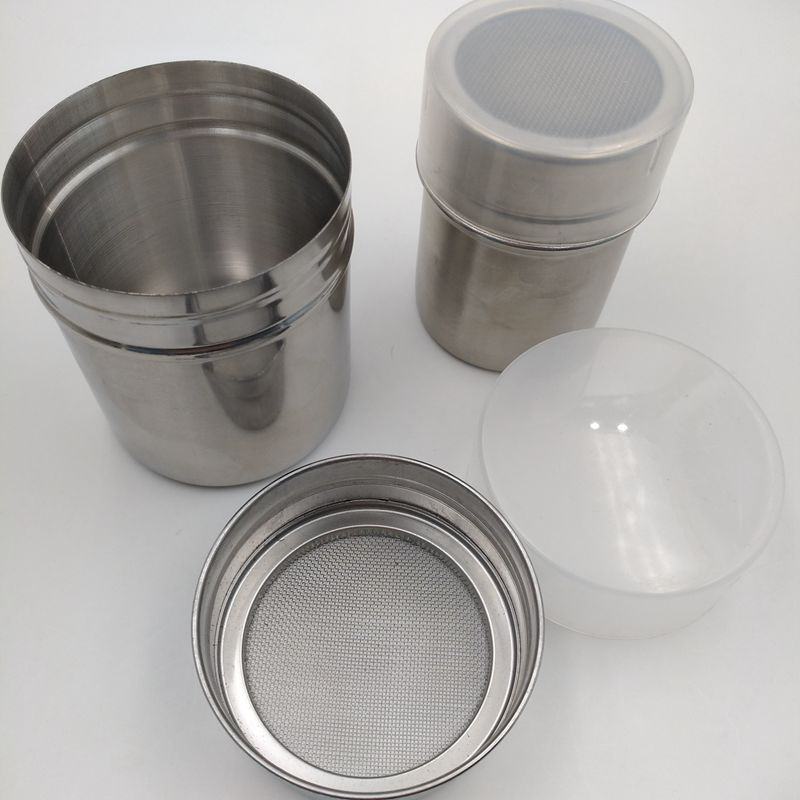 Stainless Steel Chocolate Shaker Cocoa Flour Salt Powder Icing Sugar Coffee Sifter Shaker Coffee