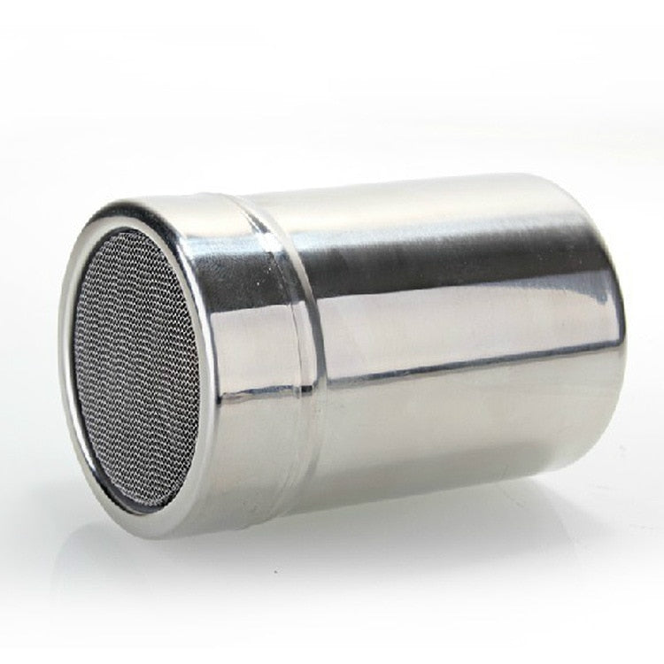 Stainless Steel Flour Sifter Icing Sugar Powder Tube Net Sieve Dredger Chocolate Powder Shaker