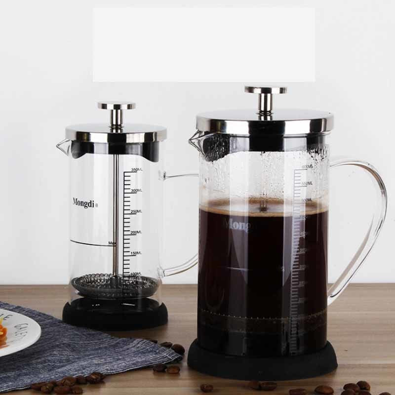 Stainless Steel French Press, Boron silicate French Press Coffee Pot with scale, Coffee Maker, Tea