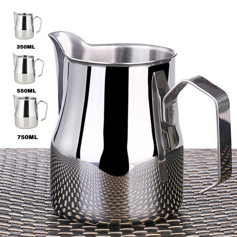 Stainless Steel Milk Frothing Jug Coffee Italian Latte Art Jug Milk Pitcher Frother Cup 350/550/750Ml