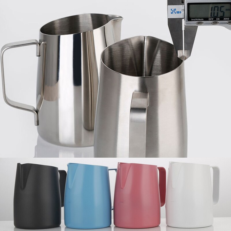Stainless Steel Non-Stick Coating Coffee Pitcher Milk Frothing Espresso Coffee Pitcher Barista Craft Jug 450ml