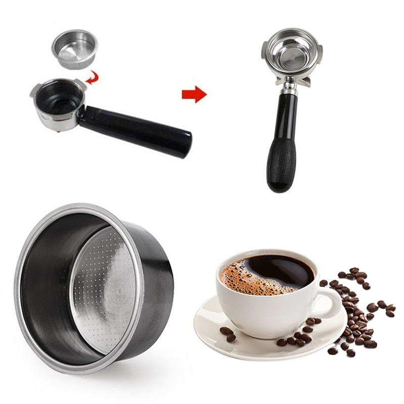 Stainless Steel Porous Filter Bowl Basket For Espresso/Machine Coffee Maker Part