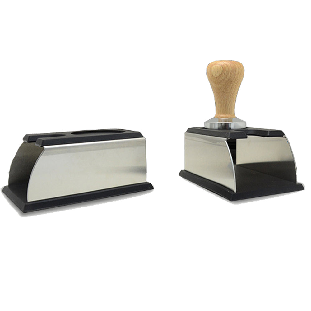 Stainless Steel Silicone Espresso Coffee Tamper Stand Barista Tool Tamping Holder Rack Shelf