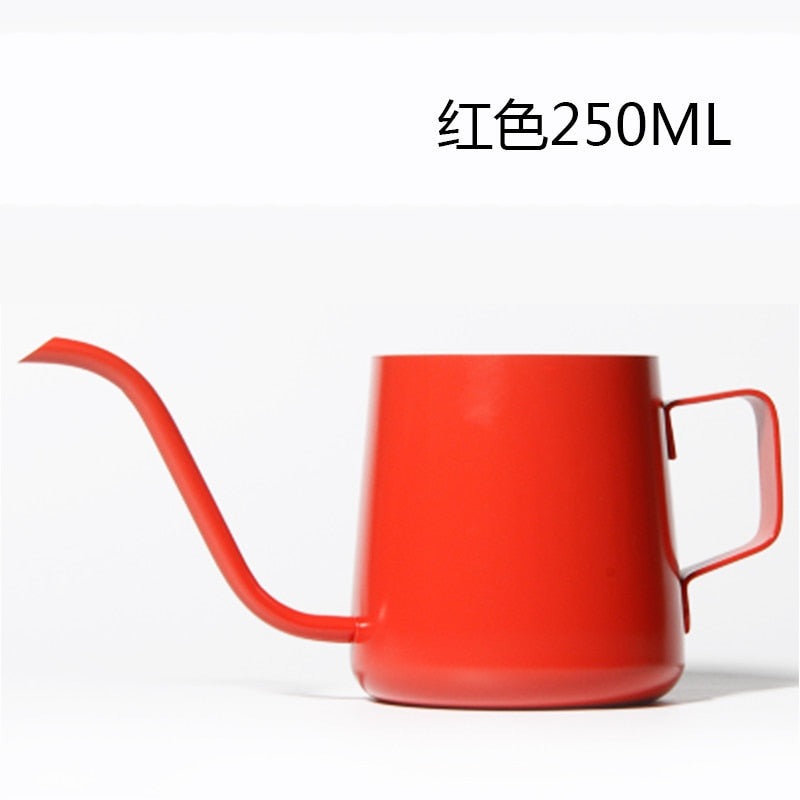 Stainless Steel Thickened Thin Mouth Pots Drip Coffee Pot Gooseneck Spout Long Mouth Coffee Kettle
