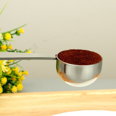 Stand Coffee Measure Tamper Spoon 304 Stainless Steel Coffee & Tea Tools Measuring Tamping Scoop