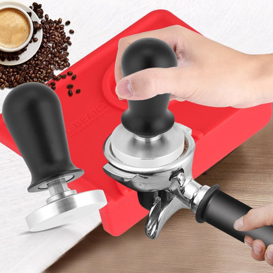 TTLIFE 58mm Stainless Steel Coffee Tamper Flat Base Espresso Beans Press Tool