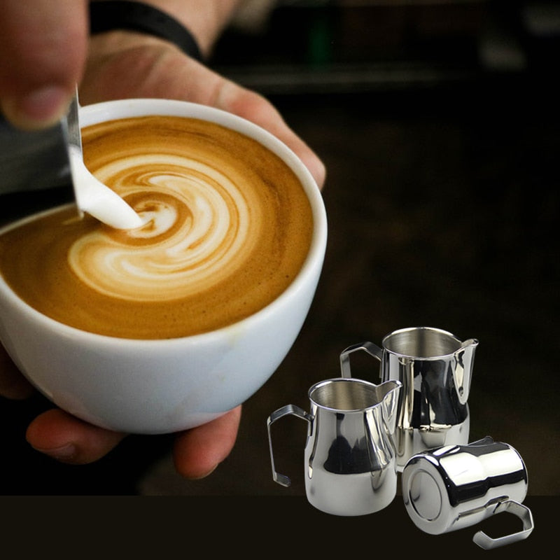 Thick Stainless Steel Milk Jug Espresso cups Art Cup Tool Barista Craft Coffee Moka Cappuccino Latte