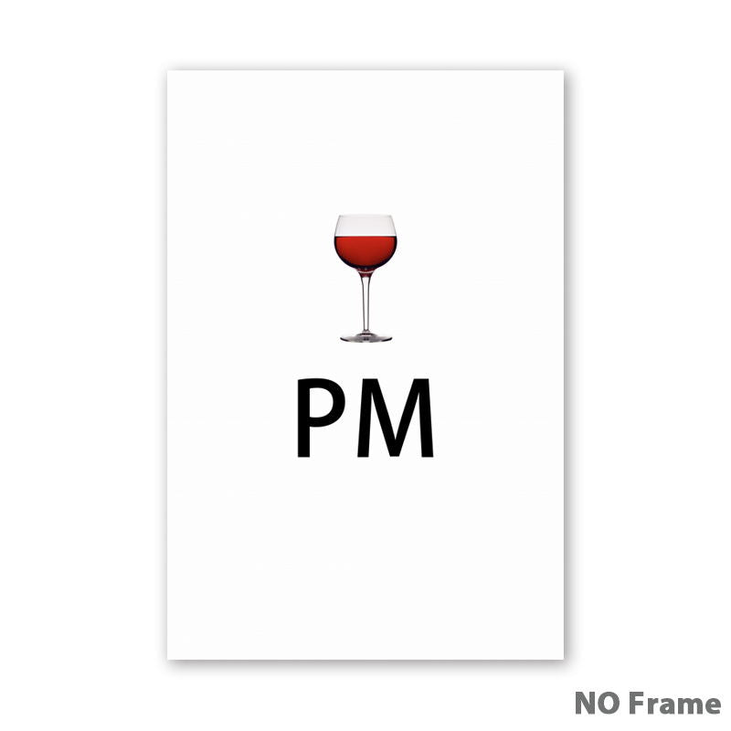 Time To Drink Coffee Wine A3 Canvas Painting Posters And Prints Living Room Dining Room Grally Wall Art Pictures Home Decoration